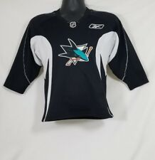 San Jose Sharks NHL Reebok Black White Boys Jersey Size Medium 10/12