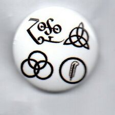 LED ZEPPELIN Symbols BUTTON BADGE -CLASSIC ENGLISH ROCK BAND - ROBERT PLANT 25mm
