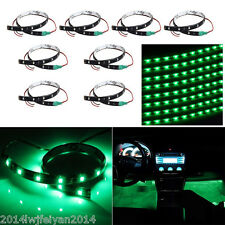 8Pcs/Lot 12V 15 LED 30cm Car Motor Vehicle Flexible Waterproof Strip Light Green