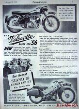 1955 Motor Cycle ADVERT - Velocette '200cc Silent LE & 350cc Viper' Print AD