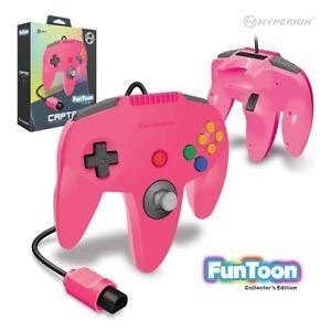 Nintendo 64 Captain Premium Controller For N64 (Princess Pink) - Hyperkin