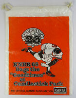 RARE 1982 SF Giants KNBR Candlestick Park 25th Anniversary Tote Bag SGA Rope Top