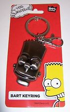 Licensed BART SIMPSON Simpsons SILVER PEWTER KEYCHAIN KEYRING Key Chain Ring NEW