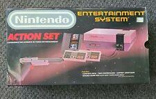 NINTENDO NES ACTION SET BOX W/ STYROFOAM, BAGS, TWIST TIES, PAPERS ~GOOD SHAPE~