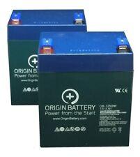 E-Scooter 24v (100 watt) Battery Kit, 2 Pack 12V 5Ah High-Rate Discharge F2 Term