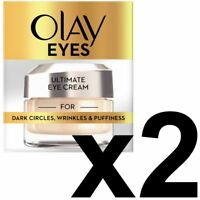 2 Olay Eyes Collection Ultimate Eye Cream Dark Circles Wrinkles & Puffiness 15ml