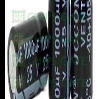 30PCS 1000uF 25V Radial Electrolytic Capacitor 10X20