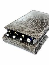 Real Leather Snake Print Magnetic Triple/Quadrople/Four Pen Case/Pouch  WAS £18