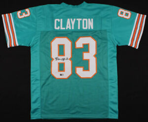 Mark Clayton Signed Miami Dolphins Jersey (Tristar Holo)5×Pro Bowl Wide Receiver