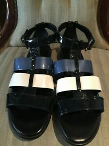 HOGAN WOMENS BUCKLE STRAP LEATHER SANDALS MADE IN ITALY SIZE 41 - EC