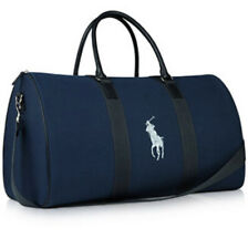 Nouveau Polo Ralph Lauren Travel Duffle Weekender Holdall Sac de Gym Bleu Marine Bleu Foncé