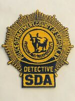 SUFFOLK COUNTY NY DETECTIVE SDA LASER CUT PATCH