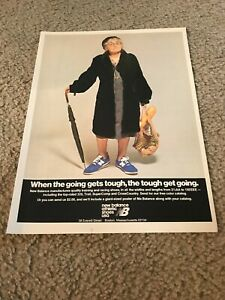 Vintage 1978 NEW BALANCE Running Shoes Poster Print Ad 320 TRAIL SUPERCOMP 1970s