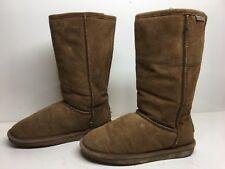 #1A WOMENS BEARPAW WINTER BROWN BOOTS SIZE 7