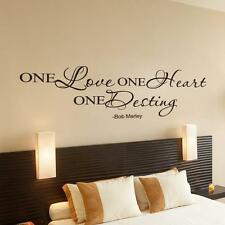 MARLEY One Love Quote Removable Decal Room Wall Sticker Vinyl Art Home Decor#
