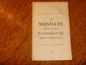 1718 Mandate of his Eminence Lord Cardinal of Bissy, Bishop Meaux .. Unigenitus