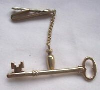 Tie Clasp Clip MENS Vintage Retro Accessory 1950s 1960s HICKOK USA KEY