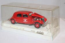 Solido Sapeurs Pompiers 1939 Citroen Fire Brigade Staff Car