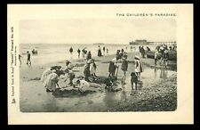 Seaside beach scene The Childrens Paradise Tuck 1478 vintage u/b PPC
