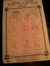 Lace Tales Embroidery DAYS OF THE WEEK Pattern FREE US SHIPPING