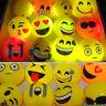 1/10X Led Emoji Light Up Bouncy Balls Elastic Flashing Throw Children Toy Gift