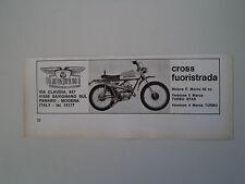 advertising Pubblicità 1972 MOTO NEGRINI CROSS FUORISTRADA 50
