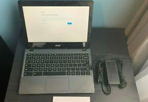 "Acer Chromebook C720-2844 (11.6"", Intel 1.40GHz, 4GB, 16GB, ChromeOS) w/ Charger"
