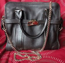 SALE! $1450 100% AUTHENTIC BURBERRY BROWN  LEATHER  HANDBAG VERY GOOD USED COND