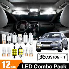 For Skoda Octavia 2004-2020 Car Interior Dome Door Map LED Lights Replace Set