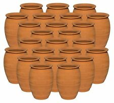 (24 Pack) Jarritos/Cantaritos de Barro, Mexican Clay Cups Ethnic Containers 12oz