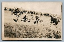 WWI US ARMY FUNERALS ANTIQUE REAL PHOTO POSTCARD RPPC