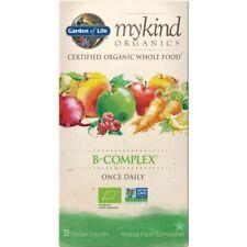 Mykind Organics B-Complex Once Daily 30 Vegan Tablets