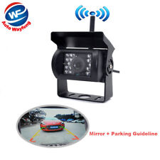 Wireless IR Rearview Back up Camera night Parking System for RV Truck Bus