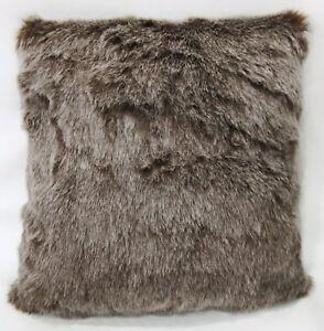 Fq868a Brown Thick Long Plush Faux Fur Cushion Cover/Pillow Case*Custom Size*