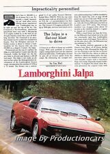 1983 Lamborghini Jalpa Original Car Review Print Article J737