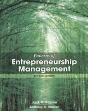 Patterns of Entrepreneurship Management 4th Edition by Kaplan & Warren paperback