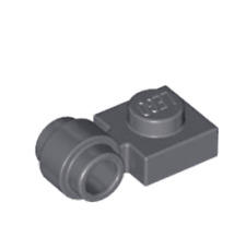 LEGO Dark Bluish Grey 1 X 1 Plate Lamp Holder Thick Clip Ring ( 4081b ). X 20.
