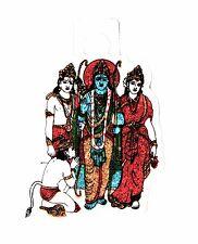 Traditional Ram Darbar Glitter Sticker - Adhesive Hindu Religious Sticker