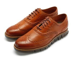 Mens Cole Haan Zerogrand Wing Ox - British Tan/Java Leather, Size 9.5 W [C29411]