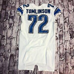 Detroit Lions Laken Tomlinson Game Used Jersey Worn 2015 Nike NFL Duke Rookie Yr
