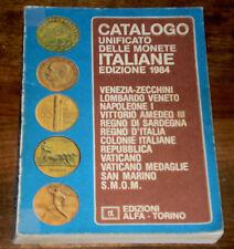 CATALOGO UNIFICATO delle Monete Italiane Edizioni ALFA 1984