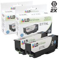 LD 2pk Black Reman Ink Cartridge for Epson 277 XL 277XL T277XL120 XP-850 XP-860