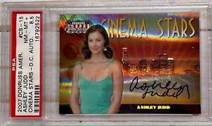 2007 Donruss Americana Cinema Stars HOLO AUTO CS-15 ASHLEY JUDD 31/50 ~ PSA 8.5