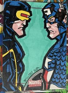 Marvel Universe 2011 SketchaFEX Card Cyclops Captain America Artist:Jeff Benitez