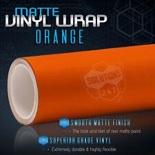 "60"" x 84"" In Matte Flat Orange Vinyl Car Wrap Film Decal Bubble Free Air Release"