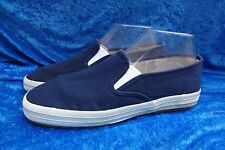 Hanes Her Way Navy Blue Women's Canvas Loafers, Size 8.5 M