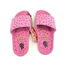 Vans x The Simpsons D'ohnut Donut Pink Slides Size 4 Men's NWT FREE SHIPPING