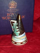 Royal Worcester Candle Snuffer   'BLUE  LAGOON'    Art Deco.  2000