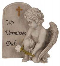 Garten Grabschmuck Grab Engel Friedhof Poly Engelsfigur Wir vermissen Dich 494