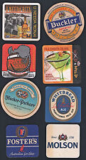 Beer Coaster Lot #5: 8 Different (8 Used, Good One Side)